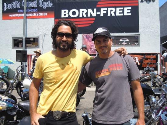 Fabio Diniz (left) of Rock n Cycles Brazil